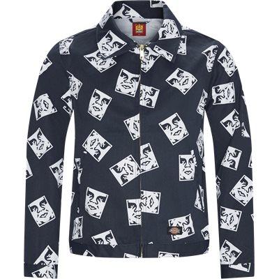 OBY2 Undlined Eisenhower Jacket Regular fit | OBY2 Undlined Eisenhower Jacket | Blå